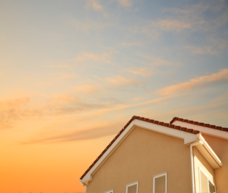 Building Exterior「House at sunset in Wakabadai, Tokyo, Japan.」:スマホ壁紙(3)