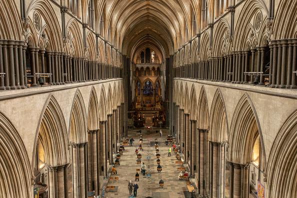 Salisbury - England「Covid-19 Vaccinations At Salisbury Cathedral」:写真・画像(5)[壁紙.com]