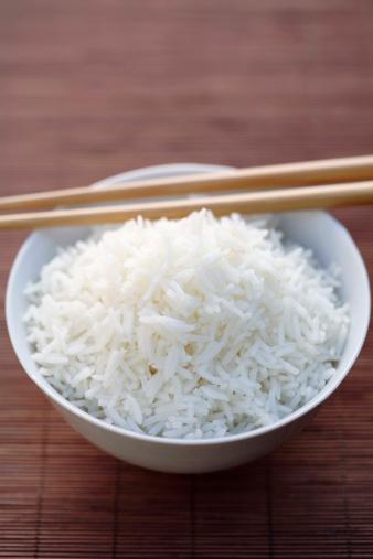 Basmati Rice「White rice in bowl with chopsticks」:スマホ壁紙(10)