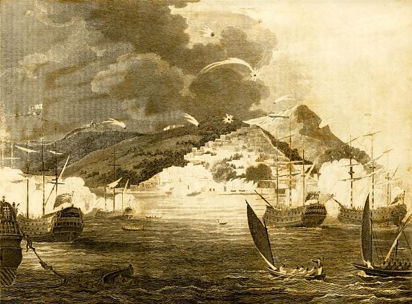 Anchored「Lord Exmouths Fleet Bombarding The City Of Algiers 1」:写真・画像(14)[壁紙.com]