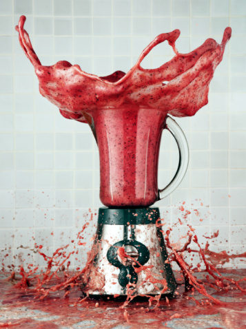 Digital Composite「Smoothie in a blender explodes out」:スマホ壁紙(15)