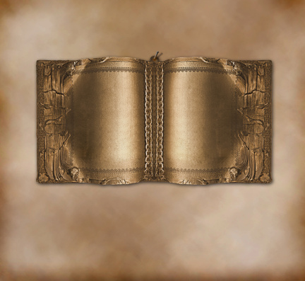 Soldered「Old ancient book with gold pages on the abstract background」:スマホ壁紙(3)