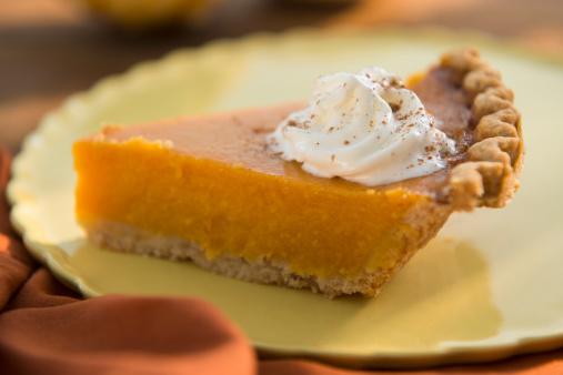 Temptation「Slice of homemade pumping pie on plate」:スマホ壁紙(1)
