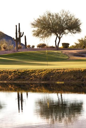 Water Hazard「Desert Golf Hole in Phoenix Area」:スマホ壁紙(14)