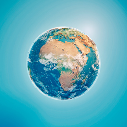 Planet Earth「Africa 3D Render Planet Earth Clouds」:スマホ壁紙(19)