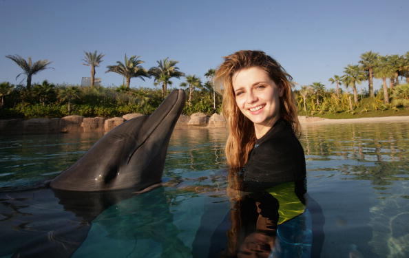Aquatic Mammal「Celebrities Swim With Dolphins - Grand Opening of Atlantis, The Palm」:写真・画像(18)[壁紙.com]