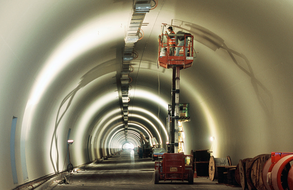Mid Adult「Tunnel fit out work using scissor lift for man platform.  Egantia road project, Northern Greece」:写真・画像(10)[壁紙.com]