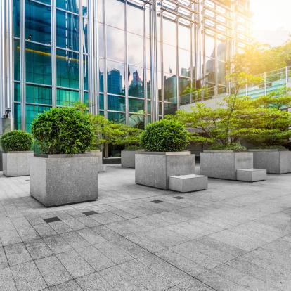 観賞用庭園「緑のオフィスエリアで香港」:スマホ壁紙(6)