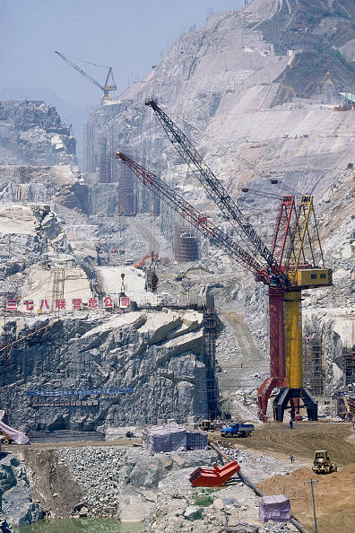 Three Gorges「Diversion Canal Cutting at Three Gorges Dam. Yangtse River. Sandouping, Yichang, Hubei Province, China.」:写真・画像(19)[壁紙.com]
