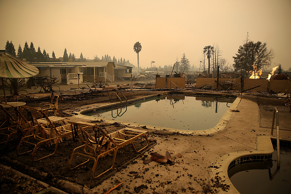 Swimming Pool「Multiple Wildfires Destroy Homes, Threaten California Wine Country」:写真・画像(11)[壁紙.com]