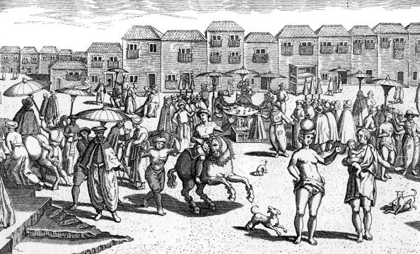 16世紀のスタイル「Goa, India, market scene 16th century」:写真・画像(13)[壁紙.com]