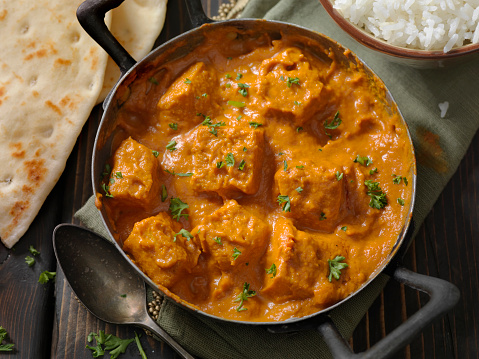 Butter Chicken「Tofu Curry with Rice and Naan Bread」:スマホ壁紙(17)