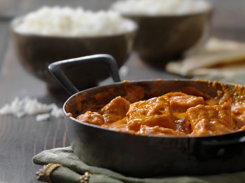 Butter Chicken「Tofu Curry with Rice and Naan Bread」:スマホ壁紙(4)