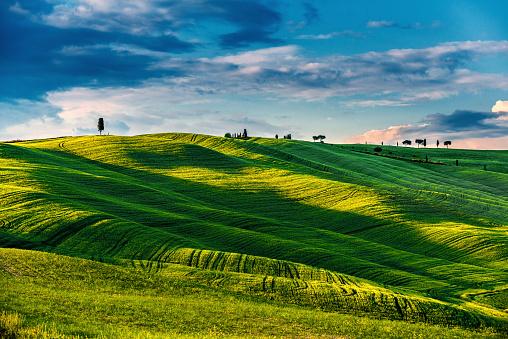Val d'Orcia「Sunrise in Tuscany」:スマホ壁紙(17)