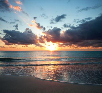 Miami Beach「マイアミの日の出」:スマホ壁紙(15)