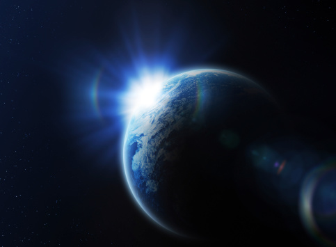 star sky「日の出のスペース」:スマホ壁紙(15)