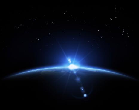 Starry sky「Sunrise in space」:スマホ壁紙(2)