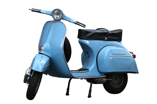 Motorcycle「Italian vintage scooter in Rome, Italy」:スマホ壁紙(3)