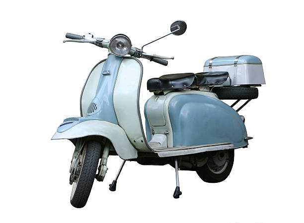 Italian vintage scooter isolated on white, Rome Italy:スマホ壁紙(壁紙.com)