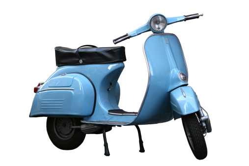 Motorcycle「Italian vintage scooter isolated on white in Rome, Italy」:スマホ壁紙(2)