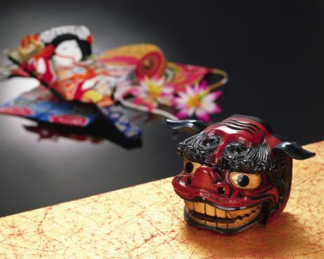 Tradition「Lion mask and battledore」:スマホ壁紙(4)