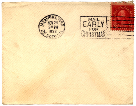 20th Century Style「Mail early for Christmas envelope sent from Memphis, Tennessee 1928」:スマホ壁紙(14)