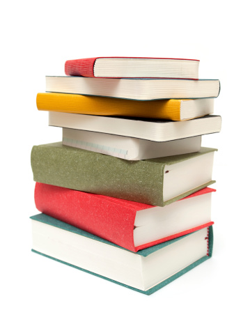 Heap「Stack of books isolated on white background」:スマホ壁紙(8)