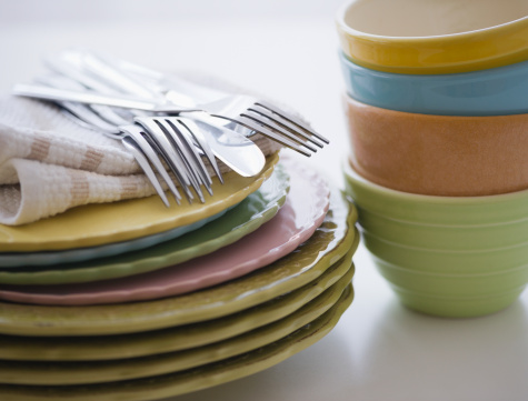 Napkin「Stack of bowls and plates」:スマホ壁紙(15)