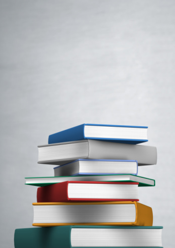 Gray Background「Stack of books on grey background」:スマホ壁紙(10)