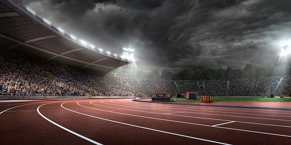 オリンピック「ドラマチックなオリンピックスタジアム、ランニングトラック」:スマホ壁紙(2)
