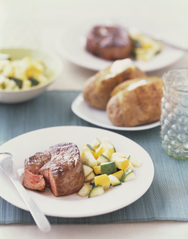 Baked Potato「Filet mignon with squash and assorted side dishes」:スマホ壁紙(19)