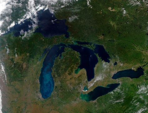 "Great Lakes「""The Great Lakes, satellite image""」:スマホ壁紙(19)"