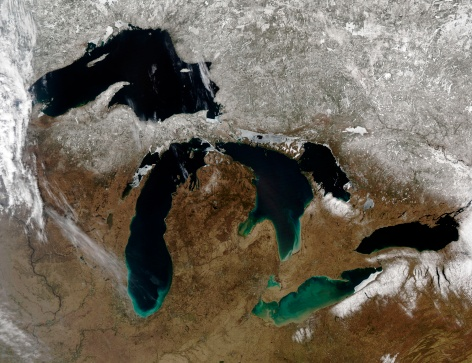 "Great Lakes「""The Great Lakes, satellite image""」:スマホ壁紙(8)"