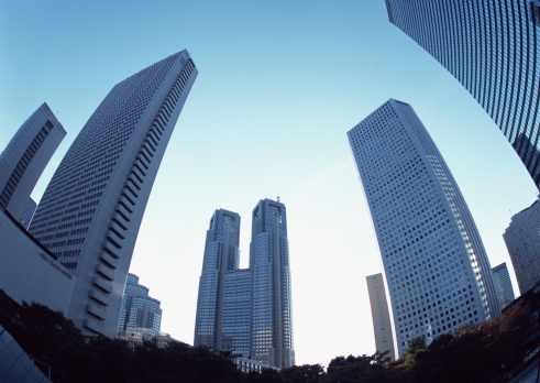 Low Angle View「Tokyo Metropolitan Government Buildings and office towers」:スマホ壁紙(19)