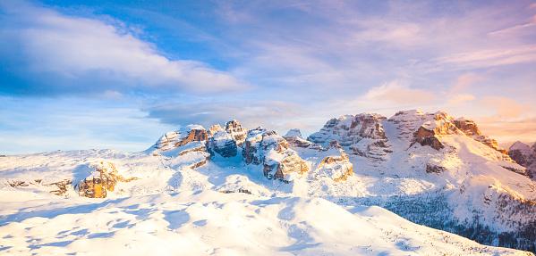 Alto Adige - Italy「Dolomites of Brenta at Sunset」:スマホ壁紙(2)
