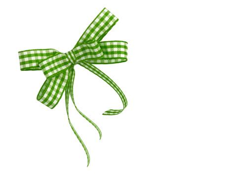 タータンチェック「グリーンの格子柄リボン」:スマホ壁紙(5)