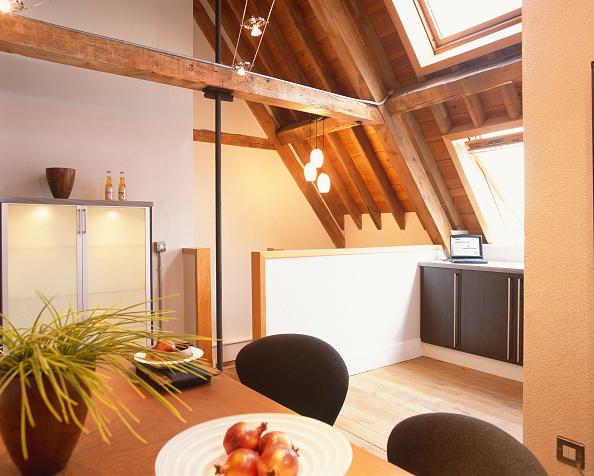 Loft Apartment「Private home, interior of a modern house.」:写真・画像(8)[壁紙.com]