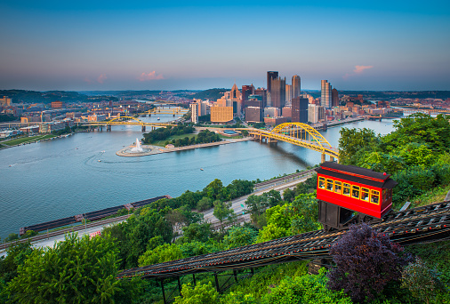 Aerial tramway「Downtown Pittsburgh, Pennsylvania」:スマホ壁紙(12)