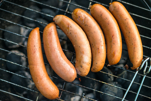 Hot Dog「Six hot dogs on grill」:スマホ壁紙(2)
