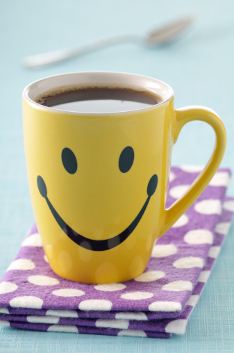 Anthropomorphic Smiley Face「coffee」:スマホ壁紙(4)