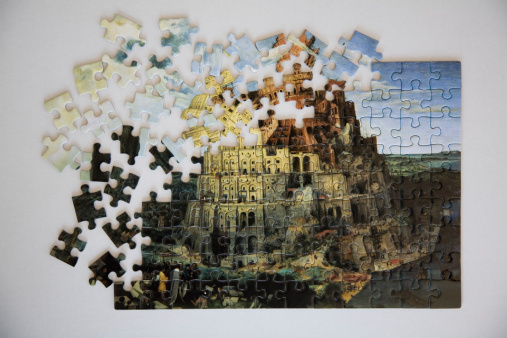 Praying「Tower of Babel jigsaw puzzle, overhead view」:スマホ壁紙(8)