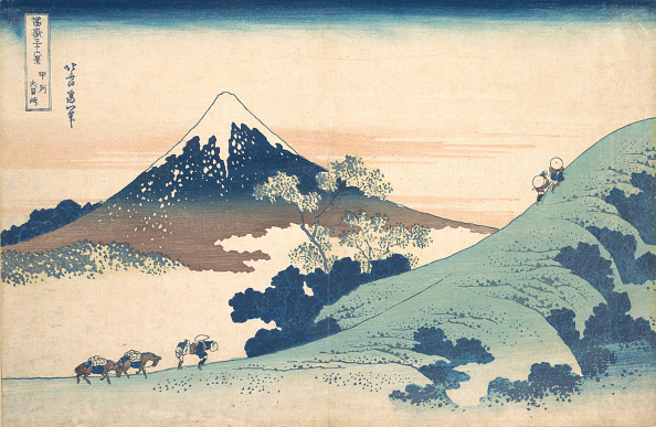 Mount Fuji「Fuji From Inume (?) Pass. Creator: Hokusai.」:写真・画像(5)[壁紙.com]