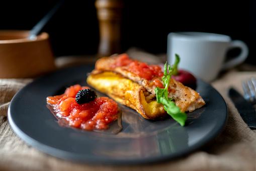 Coffee Break「homemade healthy breakfast:rice omelet and fried salmon」:スマホ壁紙(9)