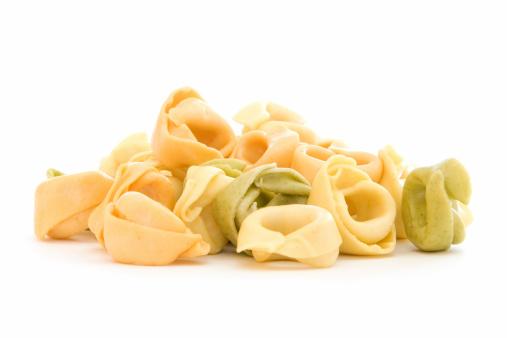 Tortellini「Pile of tortellini shells on white」:スマホ壁紙(12)