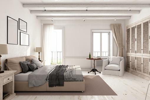 Bed - Furniture「Classic Scandinavian Bedroom」:スマホ壁紙(1)