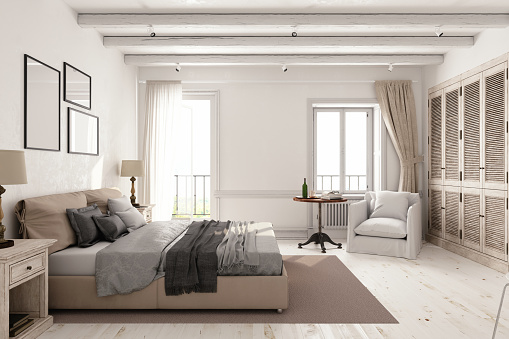 Wood - Material「Classic Scandinavian Bedroom」:スマホ壁紙(7)