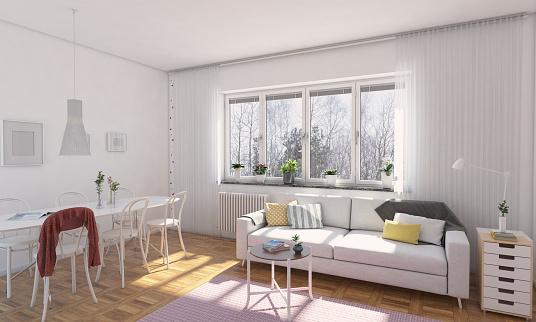Seat「Classic Scandinavian Living Room Interior」:スマホ壁紙(16)
