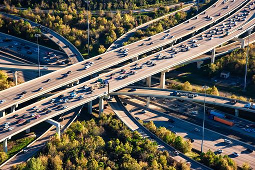 Traffic「Houston Freeway Interchange Aerial」:スマホ壁紙(4)