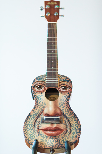 Musical instrument「Decorated Instruments Belonging To The Ukulele Orchestra of Great Britain Are Displayed Ahead Of Charity Concert」:写真・画像(6)[壁紙.com]