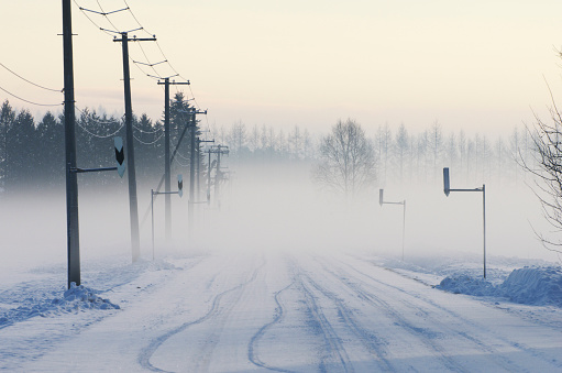 Snowdrift「Rural Road In Winter」:スマホ壁紙(1)